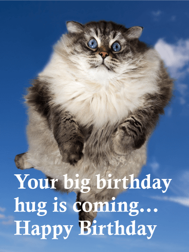 Big Birthday Hug is Coming! Funny Birthday Card
