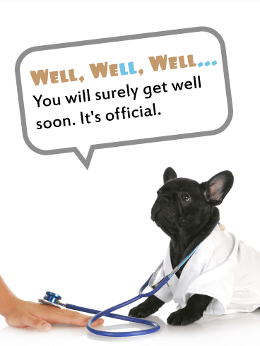 It's an Official Diagnosis!? - Funny Get Well Card