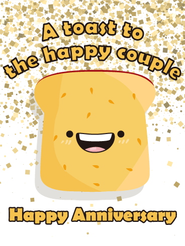 Let's Toast! Happy Anniversary Card