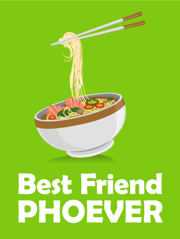 Best Friend Phoever!? Friendship Card