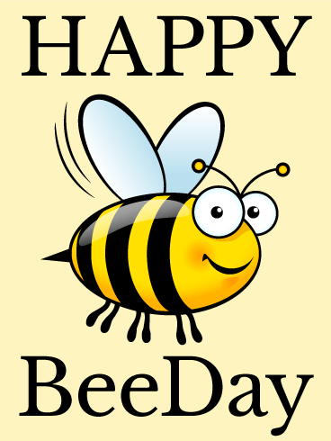 Smiling Bee - Funny Birthday Card