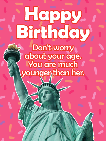 Forever Younger Than Her! Funny Birthday Card