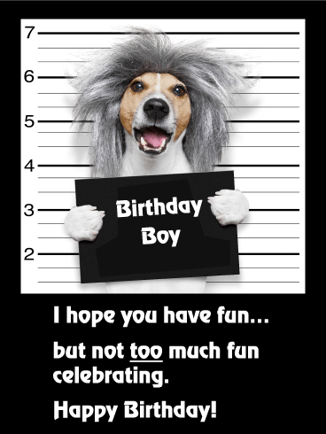 Have Not Too Much Fun! Funny Birthday Card