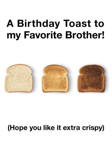 Birthday Toasts to my Brother - Funny Birthday Card