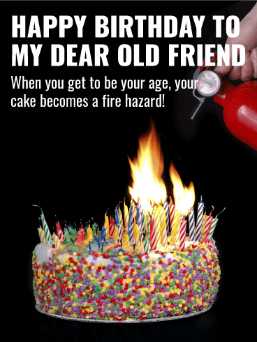 Old Lady Birthday Cake Fire