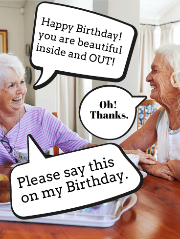 You are Beautiful No Matter What! Funny Birthday Card