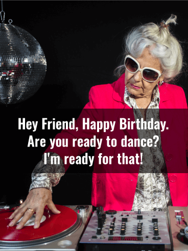 Granny DJ Funny Birthday Card for Friends