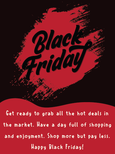 Shopping Spree – Black Friday Cards