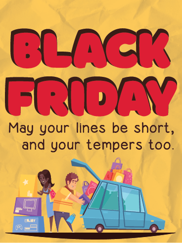 Short Lines, Please? – Black Friday Cards