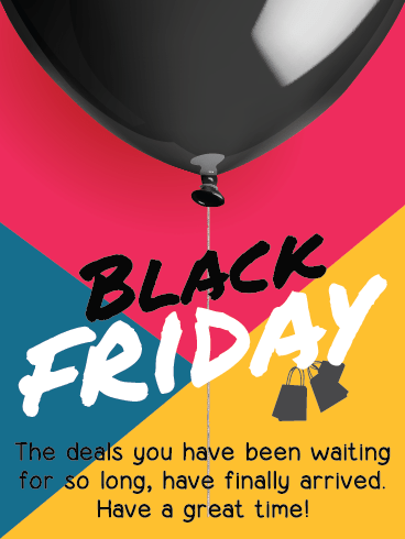 Deals All Day – Black Friday Cards