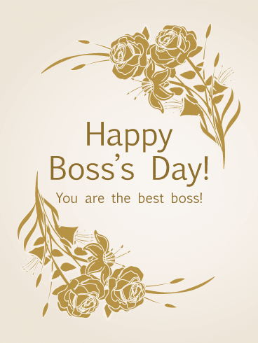 You are the Best - Boss's Day Card