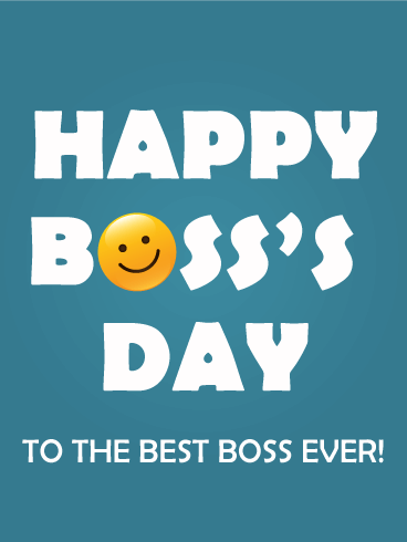 Boss's Day Smiley Card