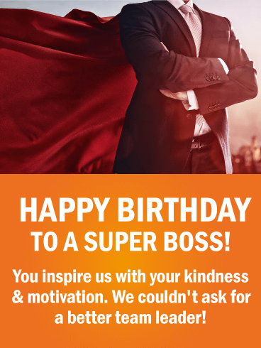 To A Super Boss Happy Birthday Wishes Card Birthday Greeting