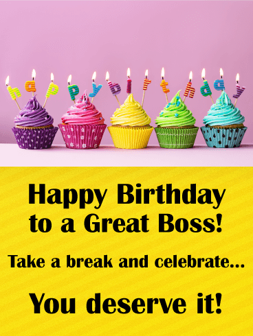 Here's to You! Happy Birthday Wishes Card for Boss ...