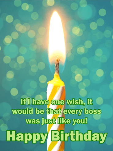 You are One of a Kind - Happy Birthday Card for Boss