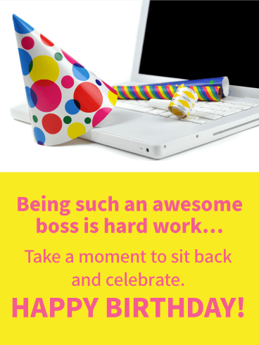 Sit Back and Celebrate! Happy Birthday Wishes Card for Boss