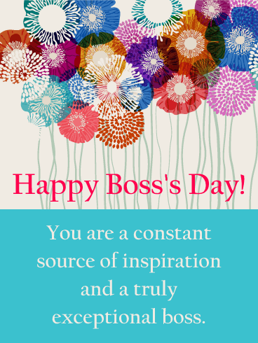 You are my inspiration happy bosss day card birthday greeting happy bosss day card m4hsunfo