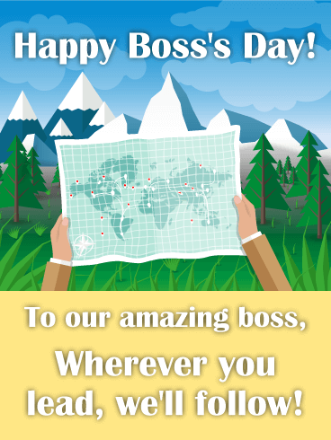 To our Amazing Boss! Happy Boss's Day Card