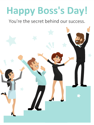 You are the Secret for Success! Happy Boss's Day Card