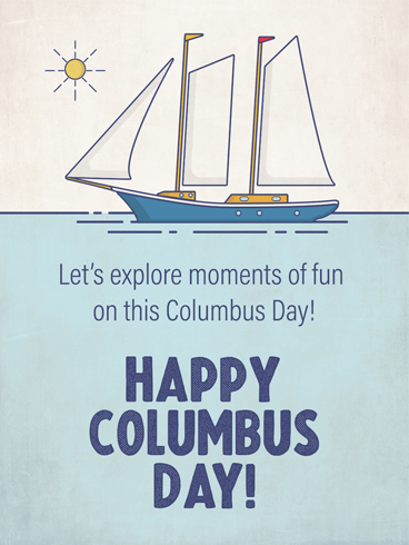 Sailing Ship – Columbus Day Card