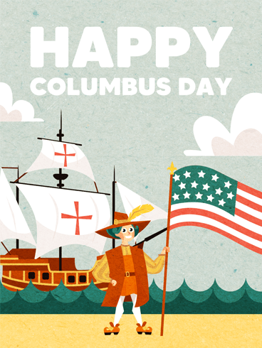 Explore & Discovery – Columbus Day Card