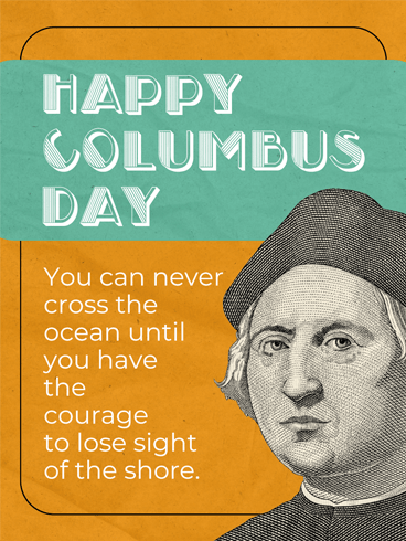 A Voyage – Columbus Day Card