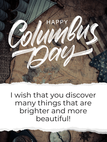 Christopher Columbus Day – Columbus Day Card