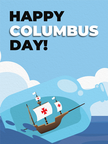 A Wonderful Journey – Columbus Day Card