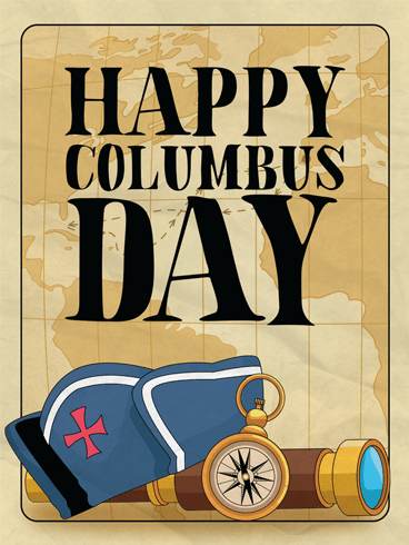Historical Day – Columbus Day Card