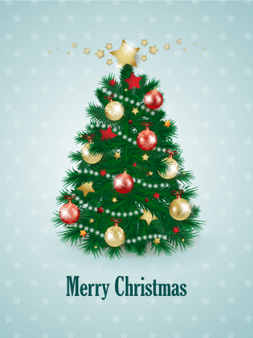 Decorated Christmas Tree Card