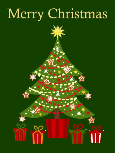 Cute Christmas Tree Card