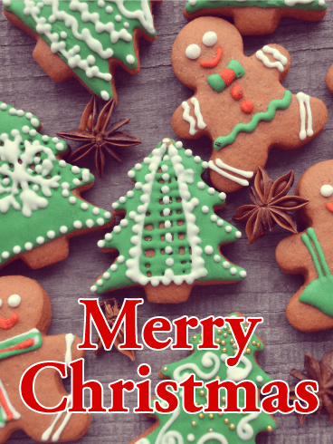 gingerbread man merry christmas card - Christmas Gingerbread Man