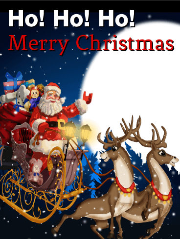 Santa is Here! Merry Christmas Card