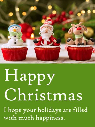 Cute Christmas Cupcake Card
