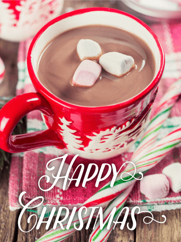 Tasty Hot Chocolate Merry Christmas Card