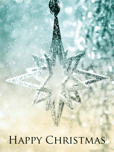 Christmas Star and Snow Card