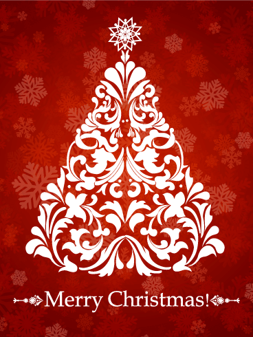 Swirl Christmas Tree Card