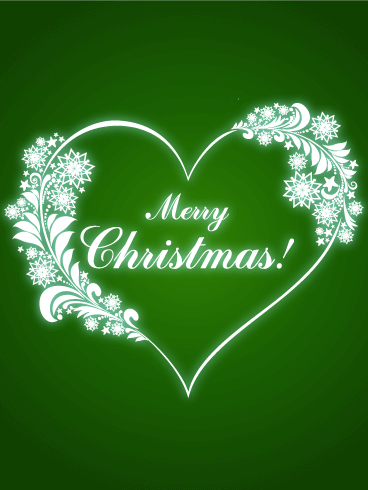 Merry Christmas Heart Card