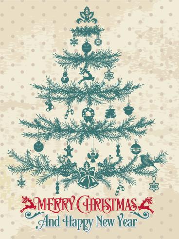 classic christmas tree card - Classic Christmas
