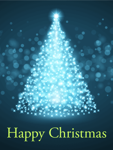 Glowing Christmas Tree Card