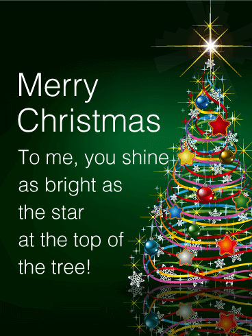 Shining Star Christmas Tree Card