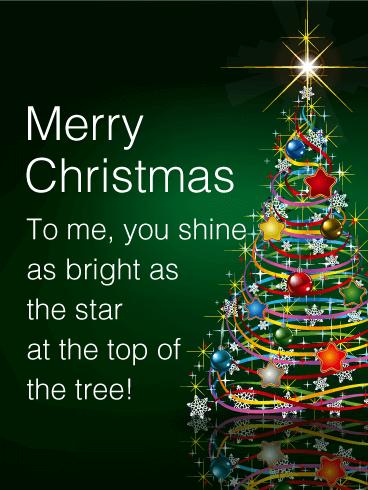 shining star christmas tree card - Merry Christmas To Me