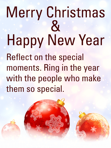Merry Christmas & Happy New Year Wishes - Birthday Wishes and ...