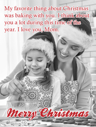 Sweet Memories - Merry Christmas Card for Mother