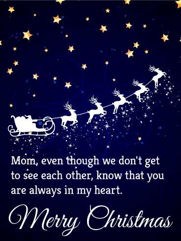 you are always in my heart merry christmas card for mother