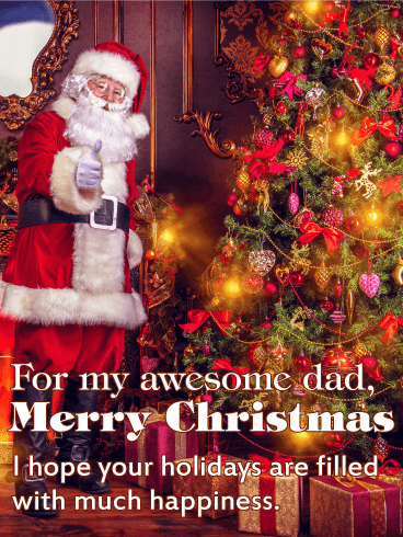 For my Awesome Dad - Merry Christmas Card