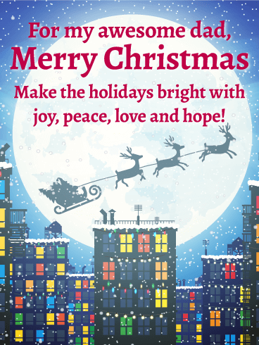 Make the Holiday Bright! Merry Christmas Card for Father