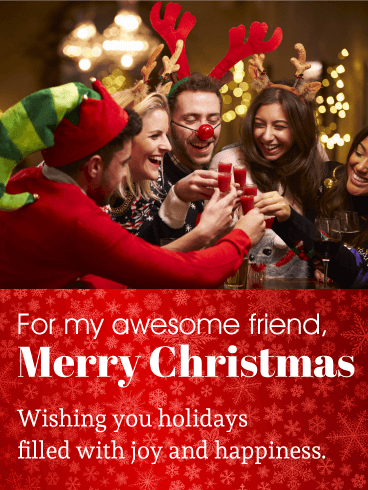 Time to Celebrate! Christmas Party Card for Friends