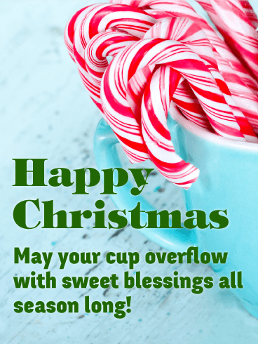 Sweet Candy Cane Merry Christmas Card