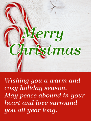 Spread the Joy! Candy Cane Merry Christmas Card